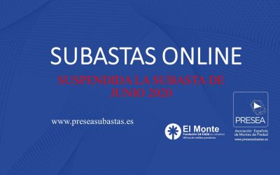 SUSPENSION SUBASTAS MONTE DE PIEDAD
